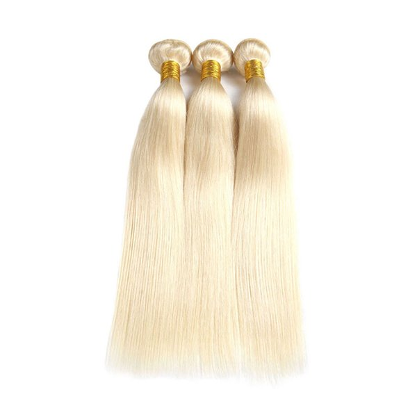 Cuticle Aligned 613 Blonde Hair Bundles Peruvian Brazilian Malaysian Human Hair Weaves #613 Blonde Hair Extensions Best Selling Items