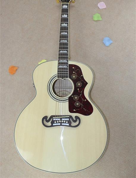 Usine Custom Shop épicéa naturel haut de la face arrière érable guitare acoustique avec Fishman 101 EQ livraison gratuite