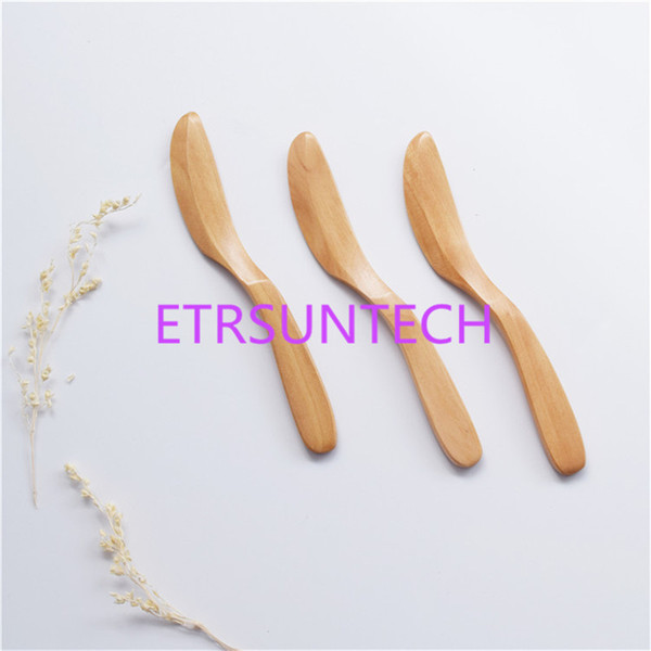 best selling Knife Style Wooden Mask Japan Butter Knife Marmalade Knife Dinner Knives Tabeware with Thick Handle High Quality LZ1927