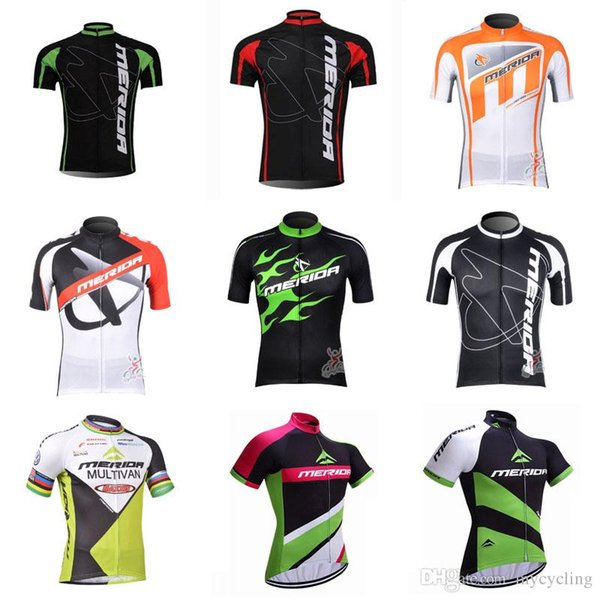 2018 Summer MERIDA Cycling Short Sleeve Jersey Breathable mountain Bike Clothing MTB Maillot Ropa Ciclismo Road Bicycle Sportswear C3004