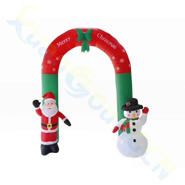 2.4M inflatable Santa snowman arch door dolls mall shop hotel New Year Christmas decorations venue layout props ornament