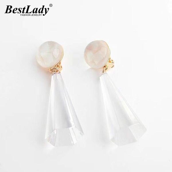 Best lady Boho Fashion Resin Drop Earrings For Women Dangle Pendant Earrings Geometric Jewelry Wedding Party Girl Gifts