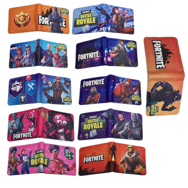 fortnite cosplay wallet with card holder coin pocket teenager short purse cartoon toys for kids gift 27 styles c4464 - Gift Card Holders Wholesale
