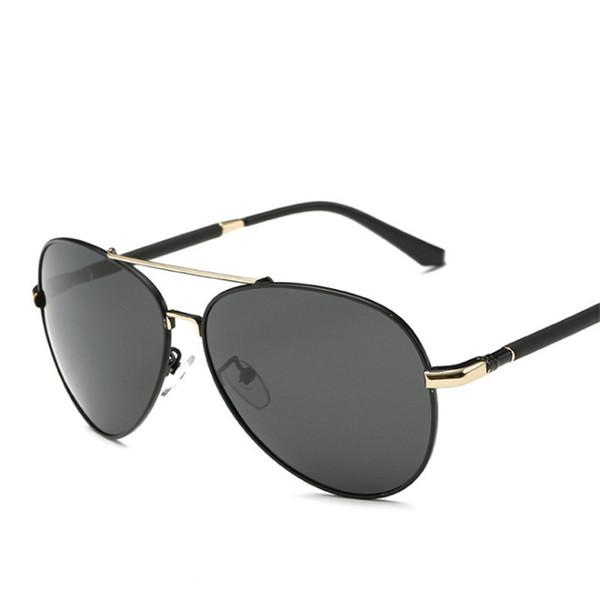12cf8b128ec Men s sunglasses Customize prescription sunglasses Polarized glasses Large  frame shading metal Myopia Hyperopia