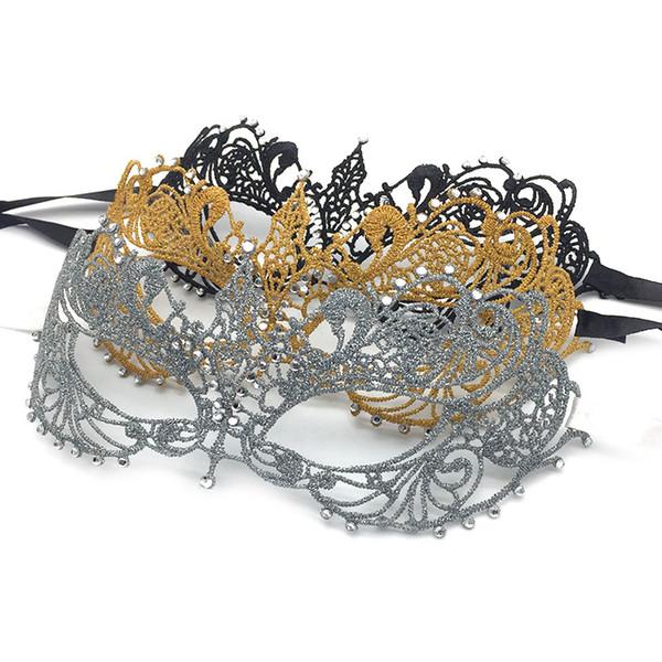 Masquerade Mask Shiny Metal Rhinestone Venetian Pretty Party Evening Prom Mask Ball Halloween Costumes Mardi Gras Party Mask for Women