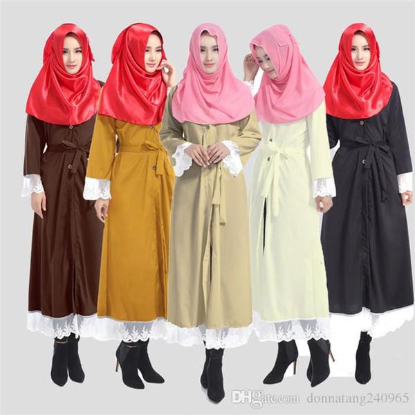 Abiti musulmani Malesia Arab Robes In The Middle East Grandi pipistrelli a maniche lunghe abito Plus Size Maxi Dress