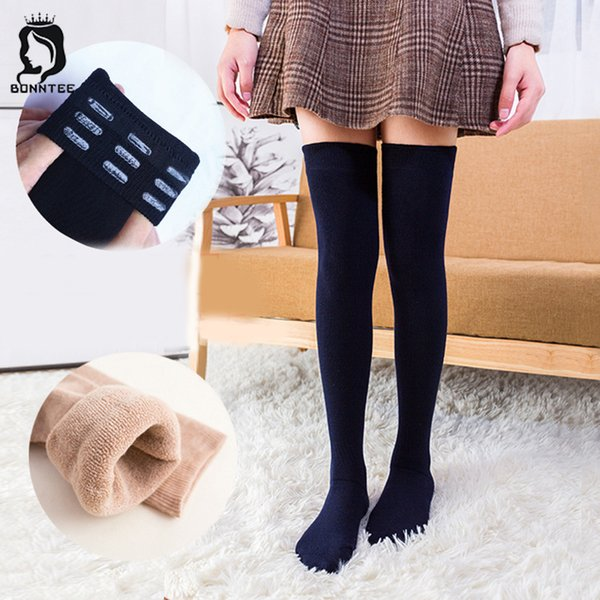 Thicker Breathable Winter Warm Stockings Women Knee Socks Various Colors Womens Japanese Style Female High Elasticity Females