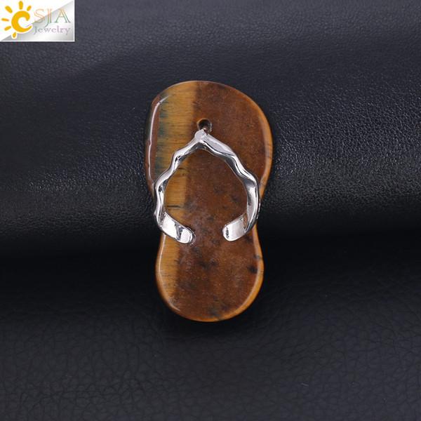 CSJA Amethyst Red Onyx Halskette Anhänger Schöne Flip Flop Schuh Sommer Sandale Flache Perle Anhänger Handgemachten Charme Schmuck für Mädchen Jungen F332 B