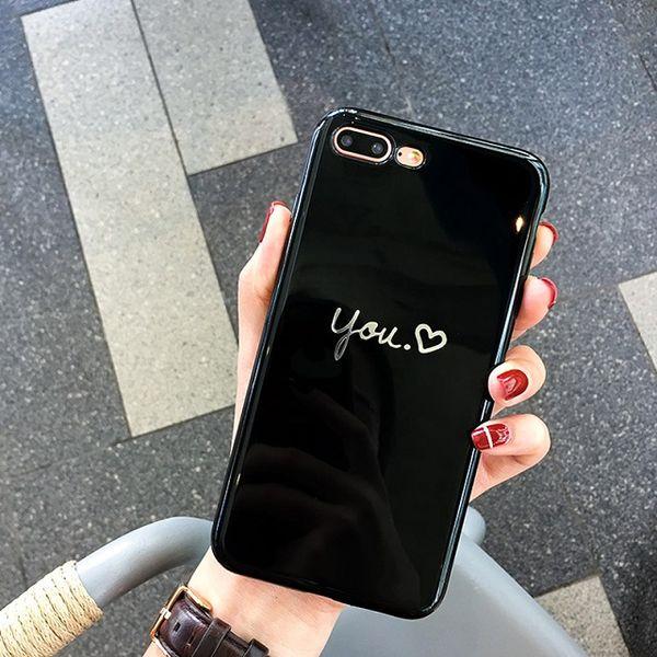 Cassa del iPhone dipinta cuore di modo per il caso di iphone 7 plus Custodia morbida del telefono TPU molle per il caso di iPhone X 6 8 Plus