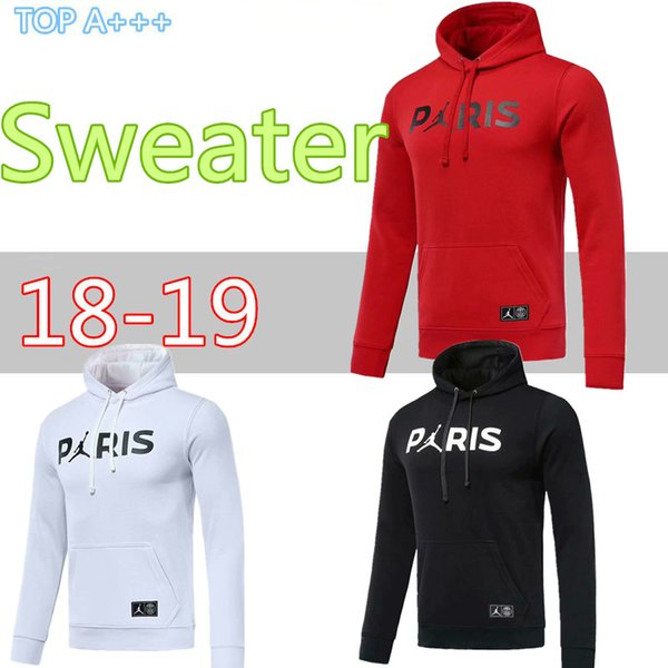 2019 TOP 2018 PSG Paris Hoodies Sweater Winter Football Shirt Kit Hooded  Sweater Sportswear MBAPPE Champion Sportswear High Quality Tracksuits From