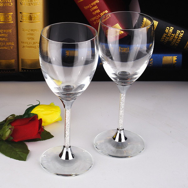 nice short stem goblets of glass set of 2 champagne wedding flutes crystal drinking goblets short wine goblet cheap party item