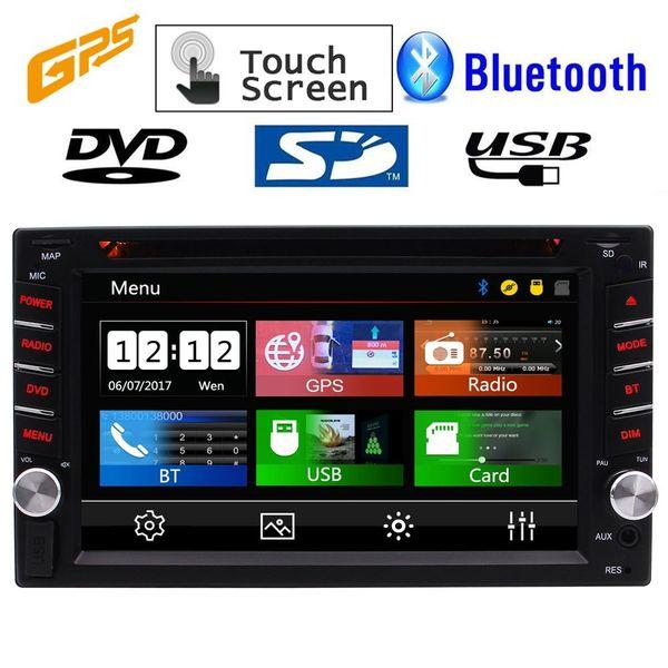 Double 2DIN 6.2'' Car DVD USB FM/AM/RDS radio tuner Muti-touchscreen In Dash Stereo Autoradio Headunit Steering Wheel Control GPS