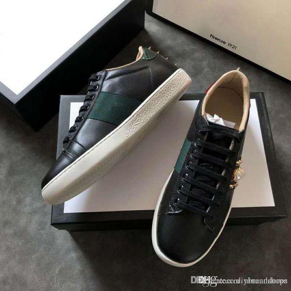 Compre Zapatos De Diseño De Moda De Perlas Negras Hombres Zapatos De Deporte Al Aire Libre Zapatillas De Deporte De Moda Hombres Mujeres Zapatos