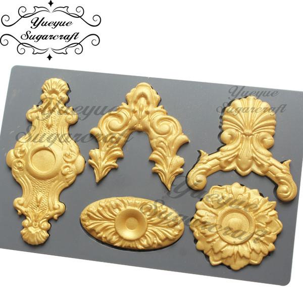 Großhandel Silikonform Fondantform Kuchen dekorieren Tools Schokolade Gumpaste Schimmel