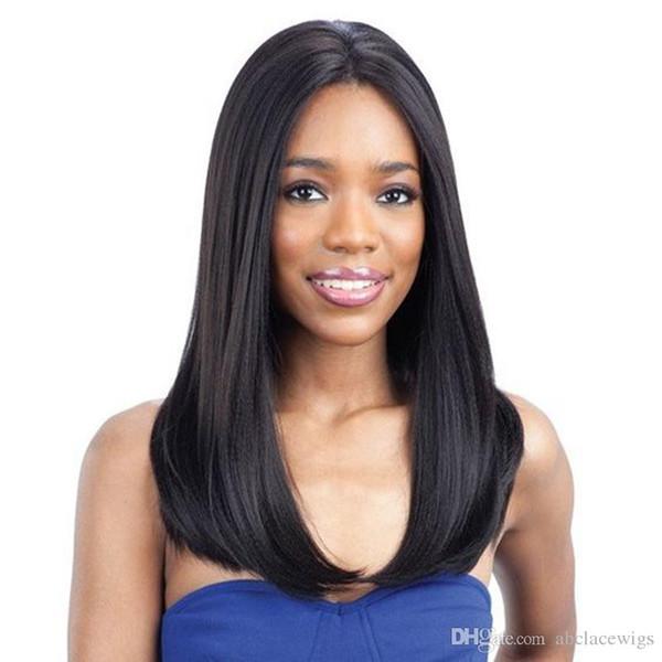 Природные мягкие 1b# длинные шелковистые Яки прямые полный кружева парики термостойкие без клея синтетические кружева фронт полный кружева парики для черных женщин