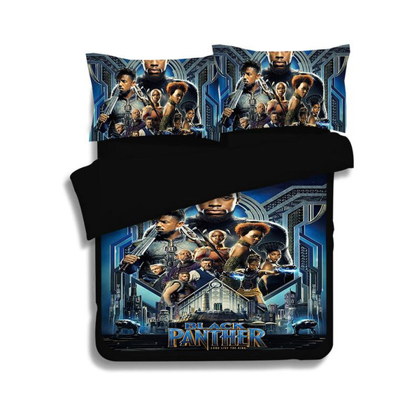 3D Bedding Set 3PC Black Panther Pattern Duvet Cover Set Of Quilt Cover & Pillowcase Bed Linens Bedroom Twin Full Queen King Size