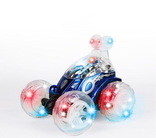 Glühende RC Autos 360 Grad Drehen Fernbedienung Autos Stunt Dumper mit Musik Geburtstag Spielzeug Geschenk für Jungen Kinder