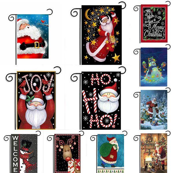 Fiesta de navidad del estilo de la bandera Banner Decoración Decoración Casa del árbol del jardín de habitaciones Impresión Impreso American Home ornamento decorativo de interior