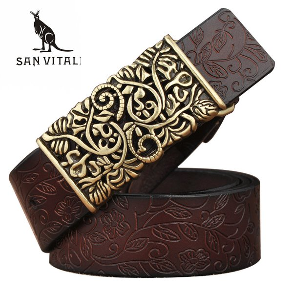 X New Designer Women's Belts Fashion Genuine Leather Brand Straps Needle BuckLE Female Waistband Buckles Fancy Vintage for Jeans