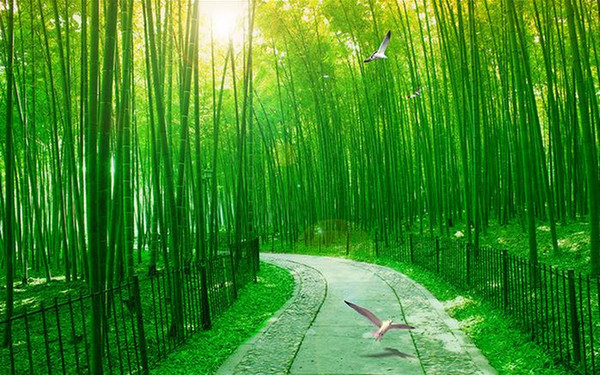 Custom Any Size Mural Wallpaper Fresh Linyin Road Bamboo Forest 3d Aisle Background Wall Tv Background 3d Mural Wall Paper Wallpaper For Pc In Hd