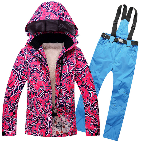 Marka Adam Kadın Su Geçirmez Kayak Ceket Pantolon Kış Açık Kayak Snowboard Takım Elbise Seti Ceket Pantolon Kar Çift kayak Giysileri