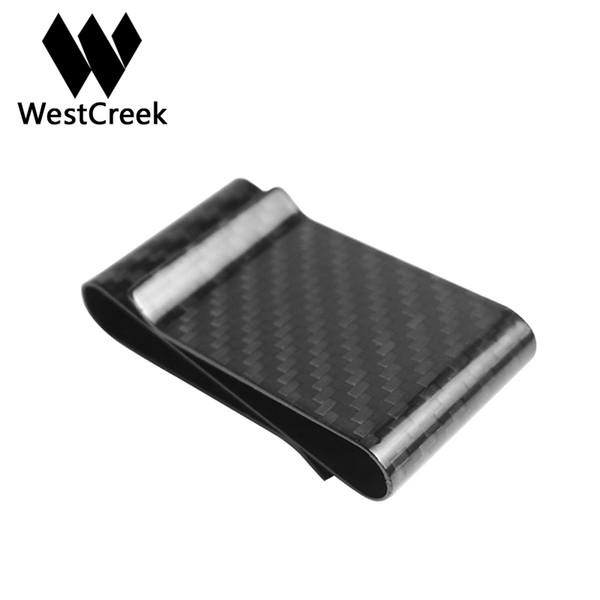 Westcreek brand real carbon fiber double sided card holder business westcreek brand real carbon fiber double sided card holder business card mini women minimalist cash clip colourmoves