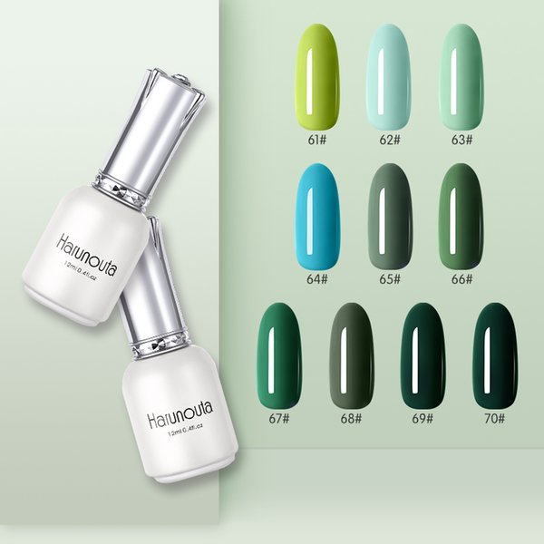 Aqua UV LED Esmalte en gel para uñas Esmalte de uñas duradero para uñas de arte Diseño de manicura Verde Azul Color Remojo de la serie
