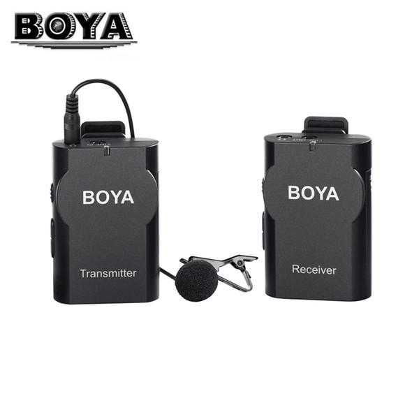 BOYA BY-WM4 Professionelle Kondensatormikrofon Lavalier Mikrofon mit Windschutz für Smartphone DSLR Kameras Camcorder PC