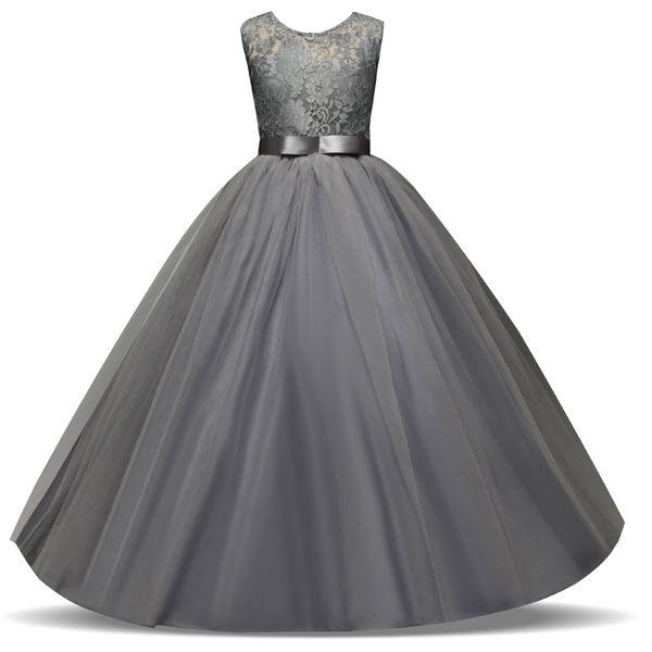 child and hot girls skirt sleeveless dress wedding flower girl dress lace yarn New style