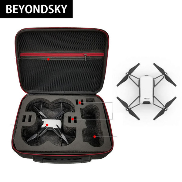 2018 DJI Tello New Model Drone Carrying Case Storage Box EVA + Pearl Cotton Liner Security Suitcase Portable Shoulder Bag
