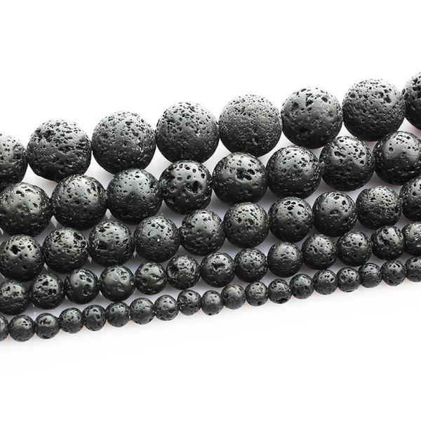 Branelli allentati di pietra rotonda vulcanica nera Lava 16