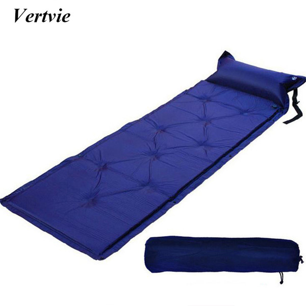 1 Person Thick 2.5CM Outdoor Camping Mat Automatic Seif-Inflatable Mattress Beach Mat Camouflage Cushion Moistureproof Tent