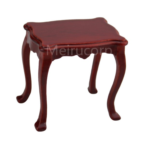 Dollhouse 1/12 scale miniature Furniture Wooden Side Table Living room flower stand