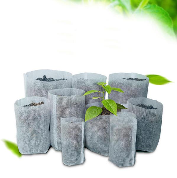 Reutilizável Rodada Não-Tecido Vasos De Tecido Planta Pote Raiz Container Cresce O Saco de Aeração Recipiente Jardim Suprimentos pot de fleur 1 PC