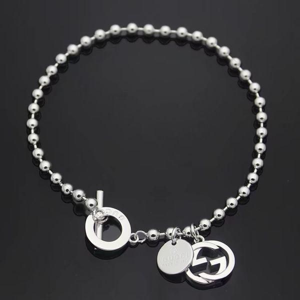 Herren Hip Hop Silber Brief G OT Armbänder Schmuck 2019 New Fashion Silber Edelstahl Perlen Kette Link für Männer Frauen