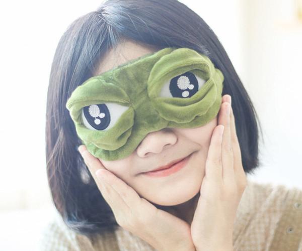 Art- und WeiseKawaii Spielraum-Schlaf-Augen-Schablone 3D trauriger Frosch füllte Schatten-Abdeckung auf, die geschlossene / geöffnete Augen-lustige Schablone mit dem freeshipping Eisbeutel DHL schläft