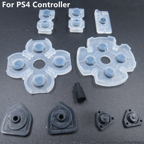 best selling Free shipping 10pcs x 10sets Soft Controllr Conductive Silicon Rubber Pads for Playstation 4 PS4 Buttons Replacement Repair Parts