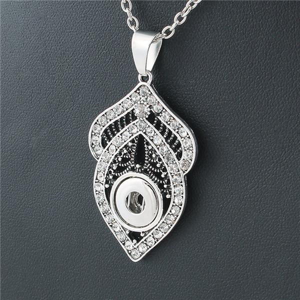 Noosa morceaux Snap Bijoux Crystal Leaf 12mm Snap Button Collier Pour Bijoux