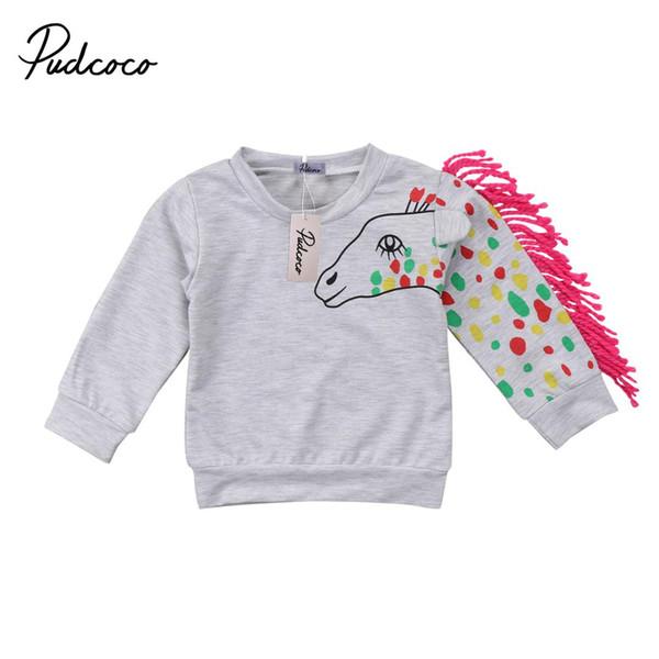 offrir des rabais apparence élégante nouvelle version Acheter Enfants Bébé Garçon Fille Licorne Gland Imprimer Pull Sweat Pull T  Shirt Tops Vêtements Sweat Shirts Sweat Shirt De $30.34 Du Gaozang | ...