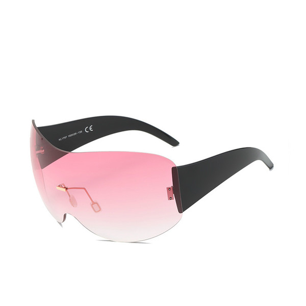 2018 new frameless sunglasses, men's and women's fashion sports sunglasses