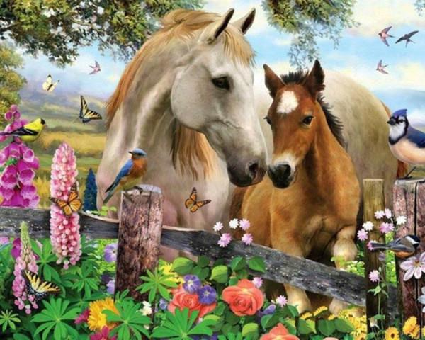 Pieno piazza pittura diamante rotondo cavallo animale ippodromo 5D fai da te diamante ricamo punto croce strass mosaico decorazione foto regalo