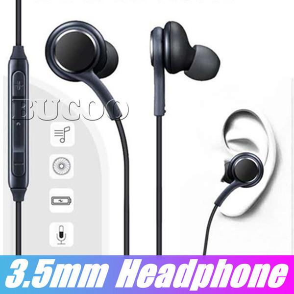 In-Ear S8 Auriculares Auriculares para Bajo Auriculares con Sonido Estéreo Auriculares OEM con Control de Volumen Para Samsung Galaxy S9 Plus S7 S6 Edge Sin Paquete