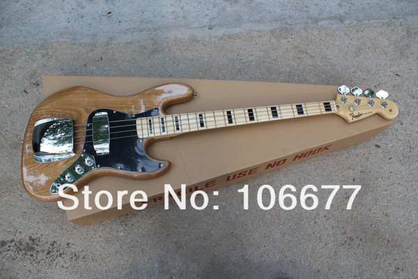 New Arrival High Quality F Vintage '75 Marcus Miller Signature Jazz Bass 4 String Natural Color Class Bass Guitar Free Shipping