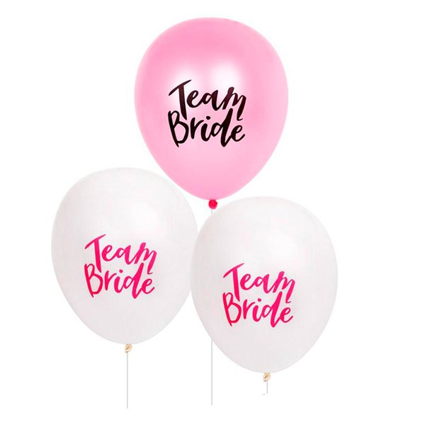 White Pink Letter Balloon Team Bride Latex Balloons DIY Wedding Decorations Bachelorette Party Favor Supplies Kids Toys 20 9ws UU