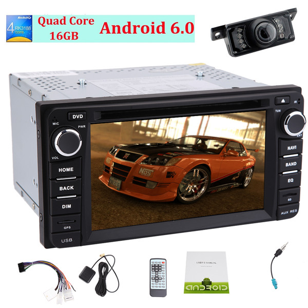 Car Stereo Android6.0 Mashmallow in Dash Headunit for Corolla Car GPS Navigation 3D Map Monitor car DVD Player 1080P Video Play Bluetooth