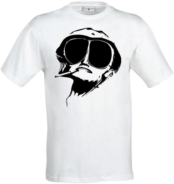 Las Vegas trippy Raoul erkeklerde (kadın mevcut) t gömlek beyaz bir nefret korku