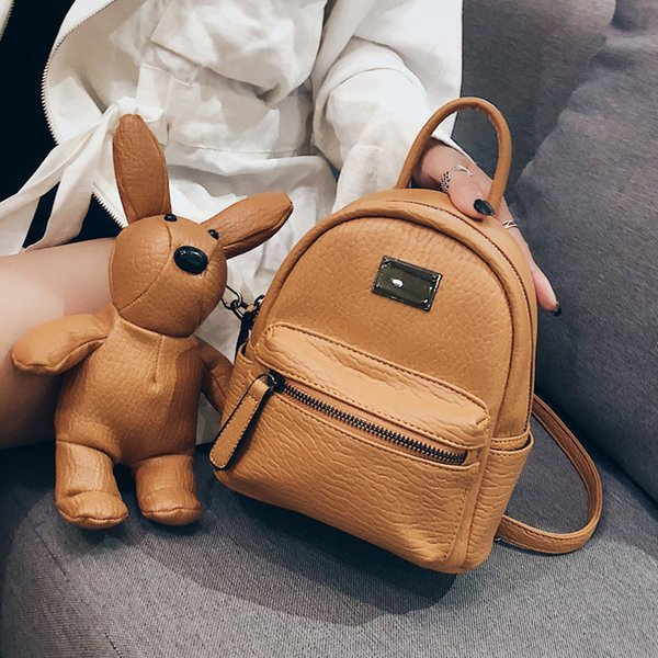 backpack cute bunny toy backpack style pu women fashion designer backpacks for girls fashion bags women