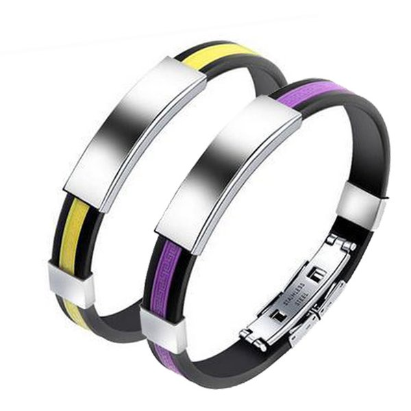 Direct sale of titanium steel personal silicone bracelet fashionable stainless steel accessories