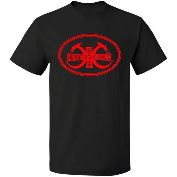 HEROES Rock Band Logo Men's Black DEL SILENCIO Free Shipping T-Shirt Size S-3XL Print T Shirt Mens Short Sleeve Hot Top Tee