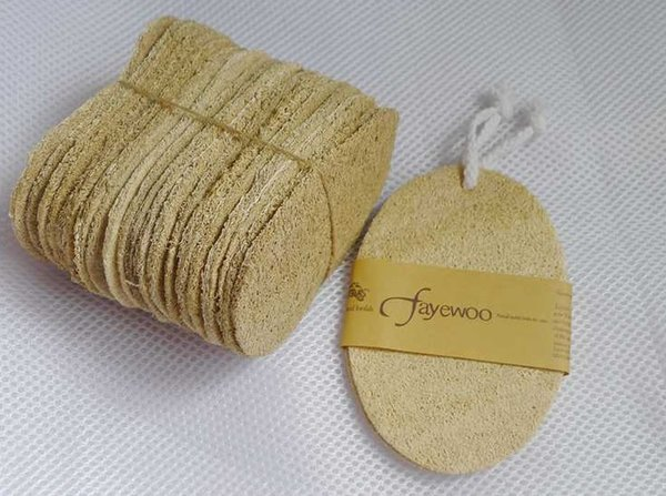2PCS Natural Loofah Sponge Scrubber Portable Household Kitchen Cleaning Scouring Oil-free Pad Brush Cloth